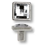 15.320.00.SWA.16 Ручка кнопка с кристаллом Swarovski эксклюзивная коллекция, античное серебро