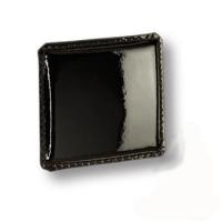 1003.0050.081 Ручка кнопка эксклюзивная коллекция, черная глянцевая кожа