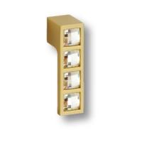 1015.0055.027 Ручка кнопка с кристаллами Swarovski эксклюзивная коллекция, матовое золото