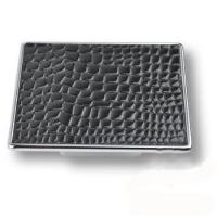 1025NE Ручка кнопка эксклюзивная коллекция, черная глянцевая кожа