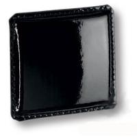 1003.0070.081 Ручка кнопка эксклюзивная коллекция, черная глянцевая кожа