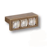 7165.0045.002 Ручка кнопка с кристаллами Swarovski эксклюзивная коллекция, старая бронза 32 мм