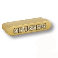 7166.0044.027 Ручка кнопка с кристаллами Swarovski эксклюзивная коллекция, матовое золото 32 мм