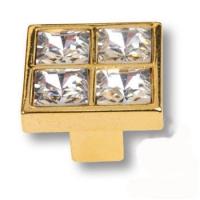 MT8136B-10 Ручка кнопка с кристаллами эксклюзивная коллекция, глянцевое золото