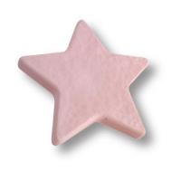 689RS Ручка кнопка детская, звезда розовая
