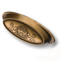 4568.0064.001 Ручка раковина морская коллекция, античная бронза 64 мм
