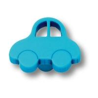 603AZ Ручка кнопка детская, машина синяя