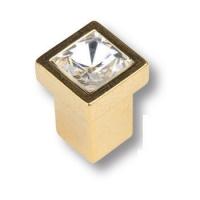 MT8135B-10 Ручка кнопка с кристаллом эксклюзивная коллекция, глянцевое золото