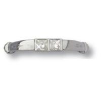 15.129.64.SWA.07 Ручка скоба с кристаллами Swarovski эксклюзивная коллекция, глянцевый хром 64 мм