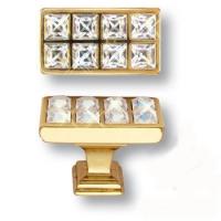 15.349.00.SWA.19 Ручка кнопка с кристаллами Swarovski эксклюзивная коллекция, глянцевое золото 24K