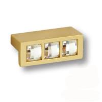 7165.0045.027 Ручка кнопка с кристаллами Swarovski эксклюзивная коллекция, матовое золото 32 мм