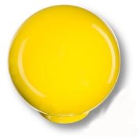 626AM1 Ручка кнопка детская коллекция , выполнена в форме шара, цвет желтый глянцевый