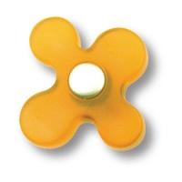 608MI Ручка кнопка детская, цветок оранжевый
