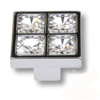 MT8136B-40 Ручка кнопка с кристаллами эксклюзивная коллекция, глянцевый хром