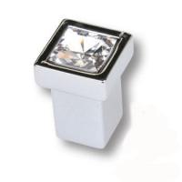 MT8135B-40 Ручка кнопка с кристаллом эксклюзивная коллекция, глянцевый хром