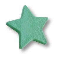 689VE Ручка кнопка детская, звезда зеленая
