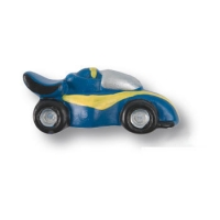 356AZ Ручка кнопка детская, машина гоночная синяя