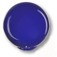 626AZ Ручка кнопка детская коллекция , выполнена в форме шара, цвет синий глянцевый