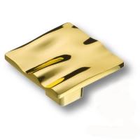 465025MP25 Ручка кнопка квадратная модерн, глянцевое золото
