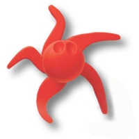 443025ST09 Ручка кнопка детская, осьминог красный
