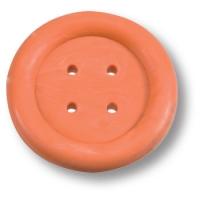 03.0628.068 Ручка кнопка детская, пуговица оранжевая
