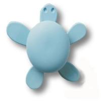 456025ST03 Ручка кнопка детская, черепаха голубая
