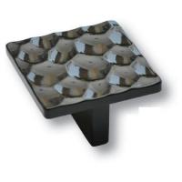 468032PC02 Ручка кнопка квадратная модерн, глянцевый черный 32 мм