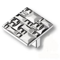 467032MP02 Ручка кнопка квадратная модерн, глянцевый хром 32 мм