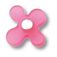 608MG Ручка кнопка детская, цветок малиновый
