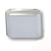 429025MP02PL05 Ручка кнопка модерн, глянцевый хром с серой вставкой