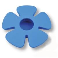435025ST05 Ручка кнопка детская, цветок синий