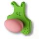 485025ST06/ST02 Ручка кнопка, зеленый медвежонок с розовым носом