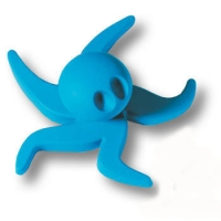 443025ST05 Ручка кнопка детская, осьминог синий