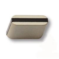 429025MP04PL15 Ручка кнопка модерн, матовый никель с коричневой вставкой