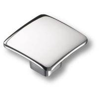 436025MP02 Ручка кнопка квадратная модерн, глянцевый хром