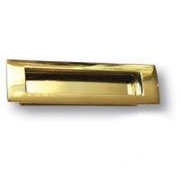 EMBUT96-12 Ручка врезная современная классика, глянцевое золото 96 мм