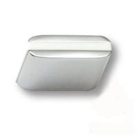 429025MP02PL06 Ручка кнопка модерн, глянцевый хром с белой вставкой