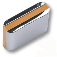 429025MP02PL18 Ручка кнопка модерн, глянцевый хром с бежевой вставкой
