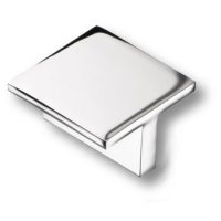 842032MP02 Ручка кнопка квадратная модерн, глянцевый хром 32 мм