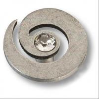 1039.0040.016 Ручка кнопка с кристаллом Swarovski эксклюзивная коллекция, старое серебро