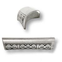 15.176.96.16 Ручка скоба современная классика, античное серебро 96 мм