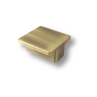 8092.15 Ручка кнопка квадратная современная классика, античная бронза 32 мм
