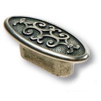 AURA32-50 Ручка кнопка современная классика, старое серебро 32 мм