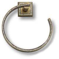 3510-75-013 Держатель для полотенец, латунь с кристаллами Swarovski, цвет - старая бронза