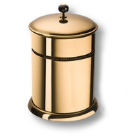 3512-71-320 Ведро, латунь с чёрными кристаллами Swarovski, цвет - глянцевое золото