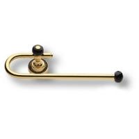 3508-71-320 Держатель для полотенец, латунь с чёрными кристаллами Swarovski, цвет- глянцевое золото