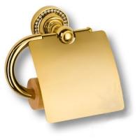 3514K-71-003 Держатель для туалетной бумаги, латунь с кристаллами Swarovski, цвет - глянцевое золото