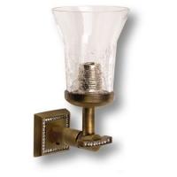 3502-75-013 Светильник однорожковый, латунь, стекло, кристаллы Swarovski, цвет - бронза