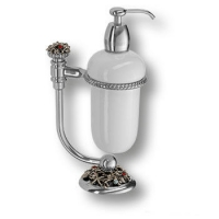 PV1632/K Дозатор для жидкого мыла на подставке, керамика, цвет - старое серебро
