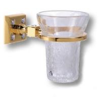 3515-72-003 Держатель для зубных щеток, латунь с кристаллами Swarovski, цвет - глянцевое золото